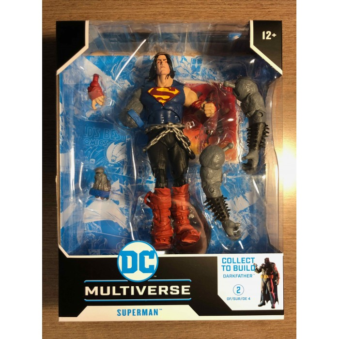 DC MULTIVERSE ACTION FIGURE WV4 DEATH METAL - SUPERMAN WITH BUILD-A DARKFATHER PIECES - McFARLANE TOYS
