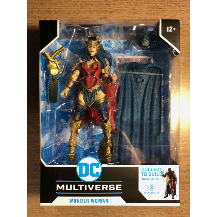 DC MULTIVERSE ACTION FIGURE WV4 DEATH METAL - WONDER WOMAN WITH BUILD-A DARKFATHER PIECES - McFARLANE TOYS