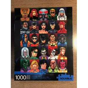 CASSE-TÊTE 1000 MORCEAUX VISAGES DC COMICS HÉROS & VILAINS