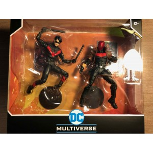 DC MULTIVERSE ACTION FIGURE - NEW 52 NIGHTWING & RED HOOD DUO PACK - McFARLANE TOYS